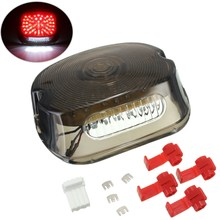 Smoke Motocycle LED Brake Rear Tail Lighting Turn Signal Light For Harley /FLST Models /Electra Glides/Road Kings(China)