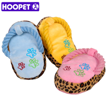Dogs Toy Pet Blue Puppy Chew Play Cute Plush Slipper Shape Squeaky Toys for Dog Pets Supplies Factory Direct