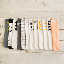 0-6y 2016 new baby cotton socks kids boy and girl knee high Cotton Socks children leg warmer bow C795