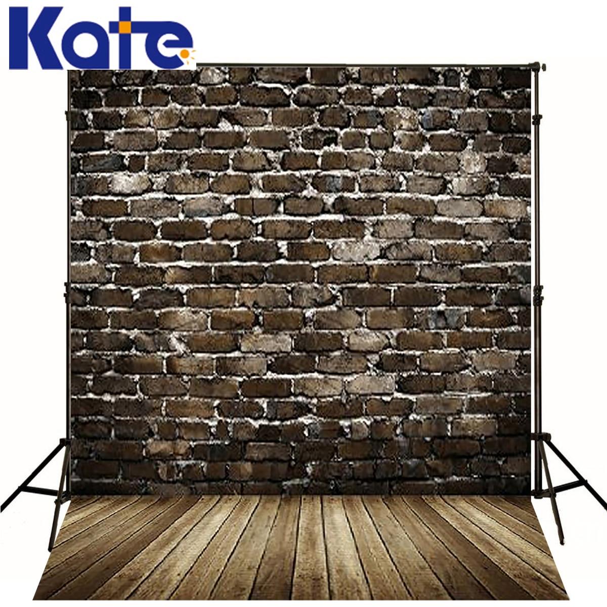 Kate Newborn Baby Fotografia Backdrops Gray Brick Wall Fondo Fotografico De Estudio Dark Wood Texture Floor Studio Backdrop<br>