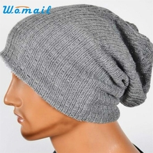 Men Women Baggy Warm Crochet Winter Wool Knit Ski Beanie Skull Slouchy Caps Hat Hot Dropship