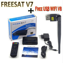 Freesat V7 10pcs WIFI av cable diseqc optional DVB-S2 HD Youtube PowerVU CCa z5 mini Newca freesat v7 satellite receiver