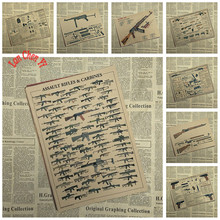 World Famous Gun Classic Poster Military Fans Vintage collection office iving Room Dining room decorative painting