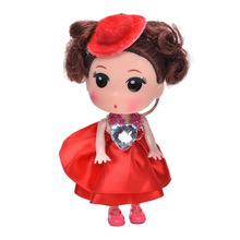 1Pcs Hot Selling Soft Interactive Baby Dolls Toy Mini Doll For girls and boys Kids Toys mobile phone pendant(China)