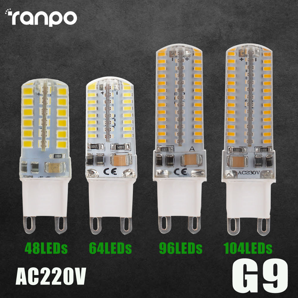 G9 LED Lamp Corn Bulb 7W 9W 10W 12W SMD 2835 3014 48 64 96 104leds Lampada LED light 360 degrees Replace Halogen Lamp AC 220V