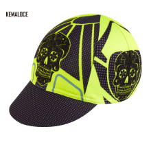 KEMALOCE Anti-UV Colnago Printing Blank Skull Wholesale Fluorescence Yellow Dry Fit Cycling Cap Hats(China)