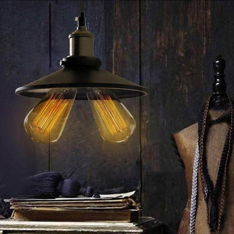 E27 Bulb Pendant Light Copper Metal Restaurant Pendant Light 2Head pendant lights Vintage Wall Lamp American Style drop shipping<br>