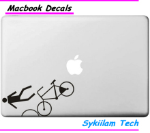 Human Fall Down Bicycle Sticker for Apple MacBook Skin Air 11 13 Pro 13 15 17 Retina Creative Personal Local Vinyl Decal Laptop
