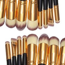 Professional 8pcs black/gold Brand Makeup Brushes Set Beauty Foundation Kabuki Brush Cosmetics Make up Brushes Tool gk854