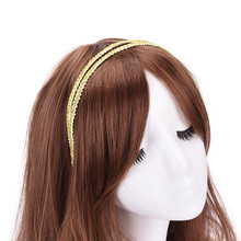 Double Layers Hairbands for Women Gold Black Head bands Shiny Rhinestone Girls Head Bands Hair Band Lace Hair Accessories