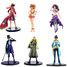 17CM  Anime One Piece Nami Robin Sexy Figure Grandline Lady 15th Anniversary PVC ZORO luffy Action Figure Model Toy