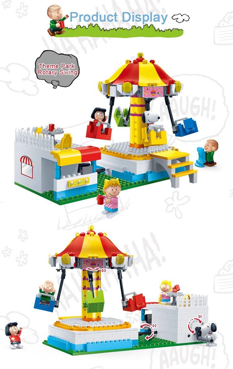 BanBao 7505 Theme Park Rotary Swing Building Blocks 23