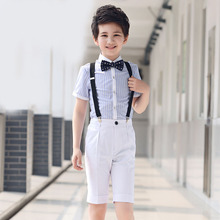 children's clothing. Flower male host. The boy piano performance clothing. The little boy waistband pants suit show