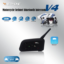 VNETPHONE 1200 meters crowd chatting motorcycle Bluetooth helmet walkie-talkie full-duplex communication Wireless Bluetooth(China)