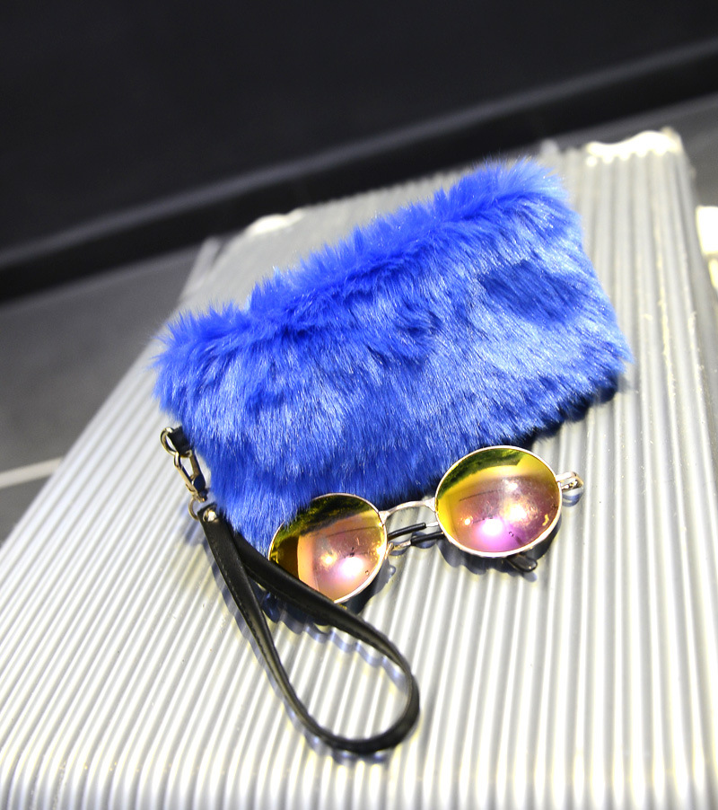 Hot Luxury Women Handbag Faux Rabbit Fur Designer Female Mini Small Messenger Bags Winter Women Ladies Crossbody Tote Bags Blue<br><br>Aliexpress