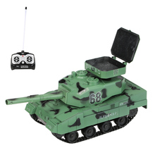 HENG LONG Battle RC Tank 3881 1/30 27MHz Super Remote Control BB Cannon Airsoft Tank with 6mm BB Bullets Tank RC Toys for Kids