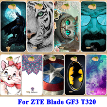 Mobile Phone Protective Cases For ZTE Blade GF3 T320 4.5 inch Cases Hard PC Shell & Soft TPU Durable Flexible Covers Para Coque