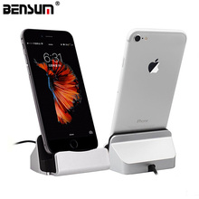 BENSUM Brand Charger Charging Dock Station Cellphone Desktop Docking USB Cable Sync Data For iPhone 5S 6s 7 Plus Android Type-C(China)