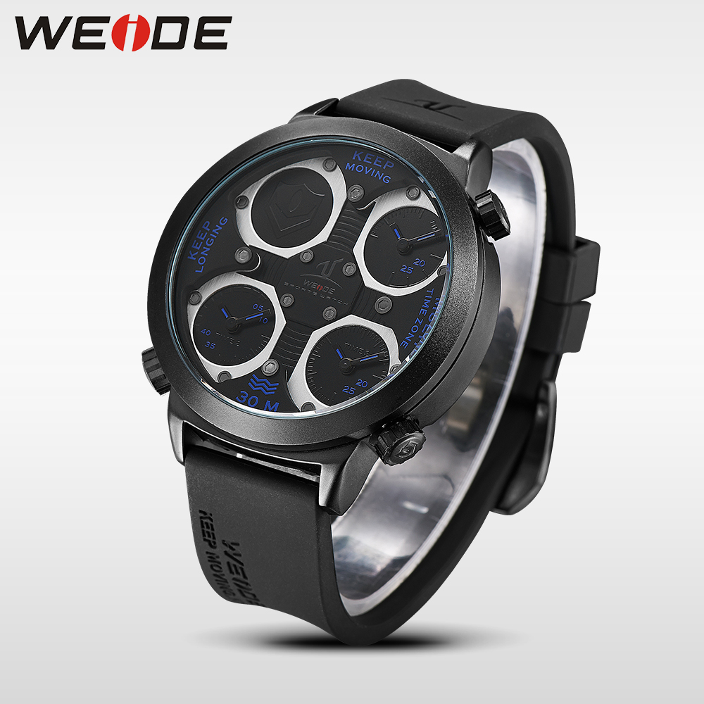 WEIDE Genuine Top Brand Military Watch Luxury Men Watch Multiple Time Zone Waterproof Sports Clock Relogio Masculino Gift UV1503<br>