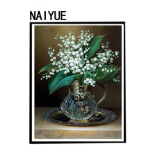 30 * 40cm 3D DIY Diamond Painting Vase White Diamond Embroidery Collection Table 1 PCS DIY Creative Home Decoration