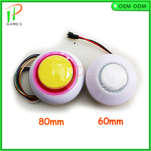 Multicolour LED push button Illuminated edge automatic color change button with microswitch Arcade game(China)