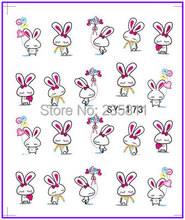 10 PCS / LOT Nail Art Water Transfers Stickers Nail Decals Stickers Water Decal Easter Day Easter Bunny  Easter Egg