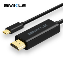 Amkle USB Type C to HDMI Cable USB 3.1 Type C Male to HDMI Male 4K Cable For MacBook Pro Huawei MateBook ChromeBook Sumsang S8(China)