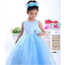 DOZ318 new style baby girl summer princess baptism well party child costume children clothes for girls birthday dresses 2017