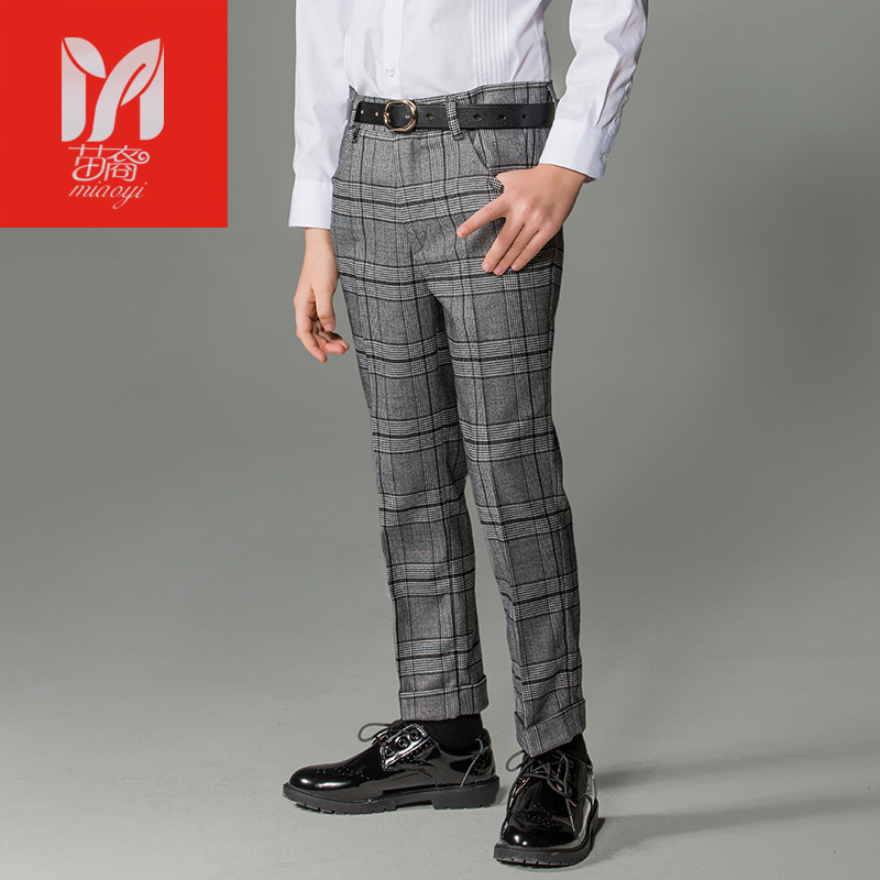 Boy casual trousers in the big children Korean version of the tattoo pants childrens childrens elastic pants autumn and winter<br>