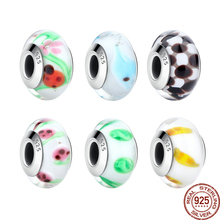 Buy BAMOER Wholesale High 925 Sterling Silver European Murano Glass Beads Charms fit Bracelets & Necklaces Jewelry SCZ016 for $4.96 in AliExpress store