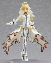 Free Shipping 16cm Fate Stay Night Nero wedding dress PVC Action Figure hot toy doll for Collection