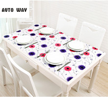Tablecloths pastoral style thick Pvc opaque Tablecloth color crystal plate soft glass table mat waterproof oil-proof oil-proof(China)