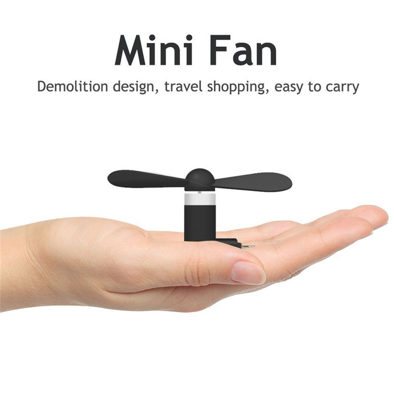BinFul Mini Portable Cool Micro USB Fan Mobile Phone USB Gadget Tester For iphone 5 5s 6 6s 7plus 8 X XR XS for Android phone