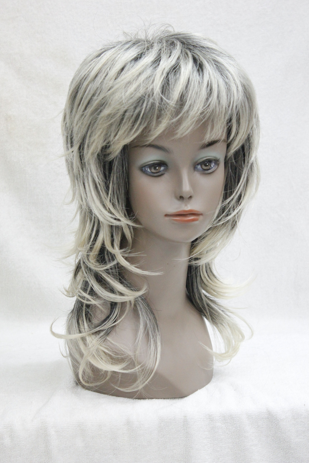 Feathery Long Layered Wigs Full Ladies Dark Roots with blonde Fashion Wig Long Straight Hair Free shipping<br><br>Aliexpress