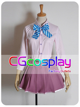 Free Shipping Cosplay Costume Vocaloid Project DIVA F MEIKO School Uniform New in Stock Retail / Wholesale Halloween Christmas