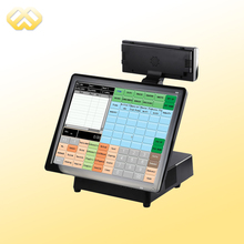 POS1501 15 Inch Touch POS Machine With LED Customer Display Restaurant English Software