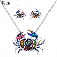 MS1504291Fashion Jewelry Sets Hight Quality Necklace Sets For Women Jewelry Multicolor Alloy Ocean Unique Crab Design Party Gift