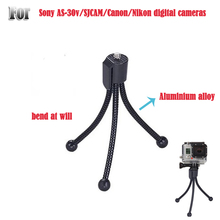 Mini Metal Tripod small tripod camera tripod Flexible Tripod lightweight for sony AS30 AS100 For canon for Nikon E1IT(China)