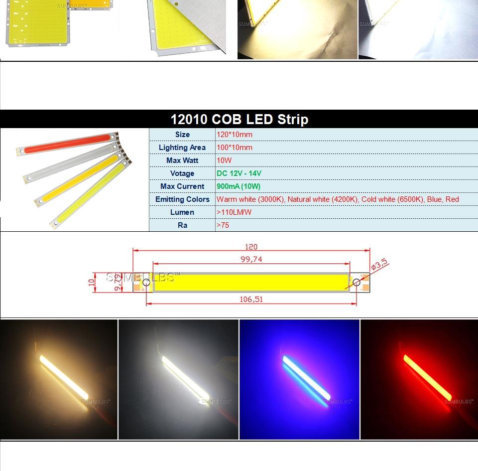 DC12V LED COB Bulb Light Emitting Diodes 2W-200W Round COB Strip White Red Blue Color 12V LED Lamp Chip for Auto Car Bulbs DIY (5)