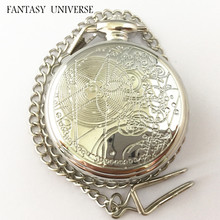 FANTASY UNIVERSE Freeshipping 10pcs pocket watches Doctor Who necklace Dia55mm DZHBL02(China)