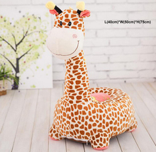 Cute Giraffe Plush Animal Toys Baby Playmate Child Infantil Infant Cushion Sofa Calm Stuffed Doll Children Kids Mat Seat Gift