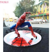 12cm The Amazing Spiderman Magnetic Spiderman Action Figure Decoration Marvel Collection Model Dolls Kids Toys With Opp Bag(China)