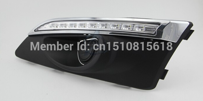 2011-2013 for Chevrolet Aveo DRL Car Styling Led Daytime Running Light Sonic signal driving fog lamp cover 1W LED lights<br><br>Aliexpress