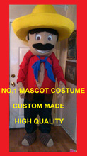 mexican Mascot Costume Adult Farmer Theme Cartoon mexican man Anime Cosply Dress Carnival Birthday Party Fancy Dress Kits 1747(China)