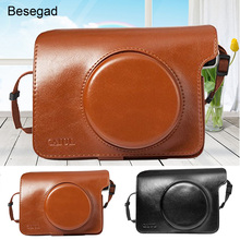 Besegad PU Leather Bag Case Cover Pouch Protector & Shoulder Strap for Polaroid Fujifilm Instax Wide 300 Instant Print Camera