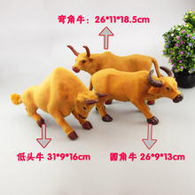 3 pieces a lot creative simulation cow toys handicraft yellow cattle models gift