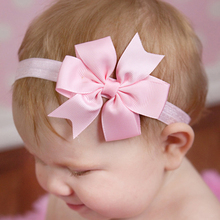 Kids Hair Accessories Hair Bands Newborn Headband Flower Princess Headwear Elastic Flower Hairband w--048(China)