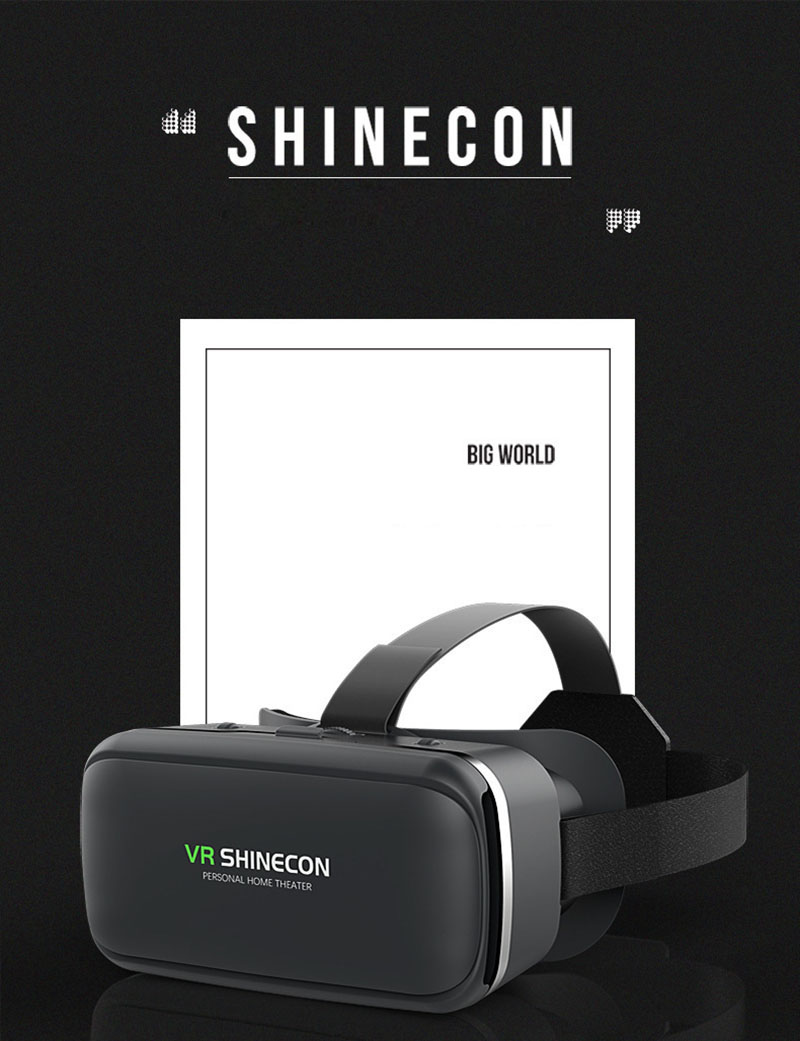 Original VR Shinecon 6.0 Virtual Reality 3D Glasses Cardboard VRBOX Helmet For 4.0-6.0 inch Smartphone With Wireless Controller 4