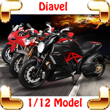 New Arrival Gift F4RR Diavel 1/12 Model Motorcycle Car Collection Scale Alloy Parts Decoration Toys Static Motorbike Present(China)