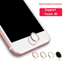 for iPhone Home Button Sticker Touch ID Aluminum Telefoon Stickers for iPhone 5s 4 6 6s 7 Apple iPad Air 2 Pro Phone Accessories(China)